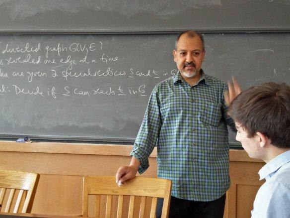 Guest lecturer Sanjeev Khanna